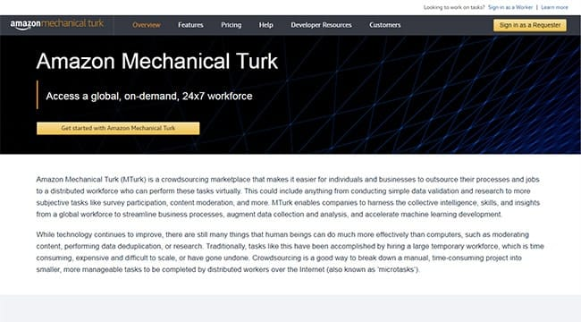 Amazon Mechanical Turk Website Testing Jobs
