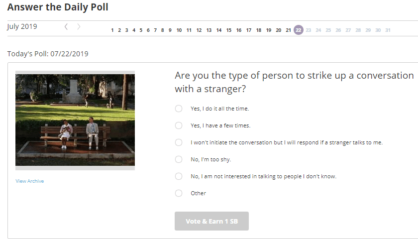 Swagbucks Daily Poll Examples